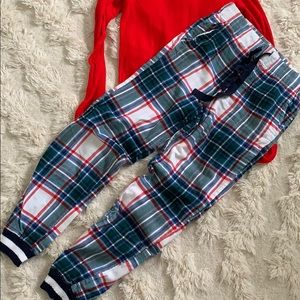 AERIE Flannel Pajama Jogger - size XS Long